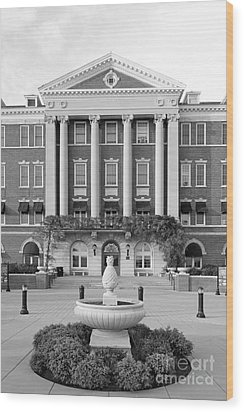 Culinary Institute Of America Roth Hall Wood Print by University Icons