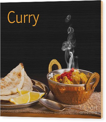 Curry Concept Wood Print by Colin and Linda McKie