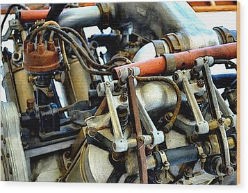 Curtiss Ox-5 Airplane Engine Wood Print by Michelle Calkins