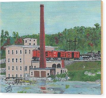 Cutler's Mill - Circa 1870 Wood Print by Cliff Wilson