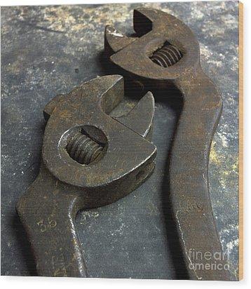 Cutting Pliers Wood Print by Bernard Jaubert