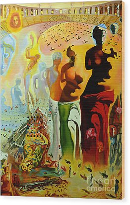 Dali Oil Painting Reproduction - The Hallucinogenic Toreador Wood Print by Mona Edulesco