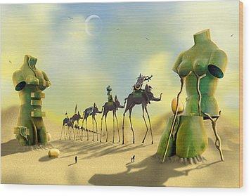 Dali On The Move  Wood Print by Mike McGlothlen