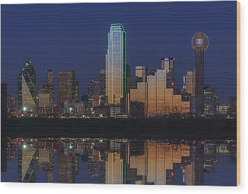 Dallas Aglow Wood Print by Rick Berk