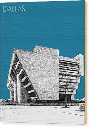 Dallas Skyline City Hall - Steel Wood Print by DB Artist