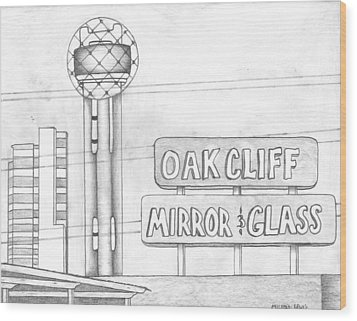 Dallas Wood Print by Michael Lewis