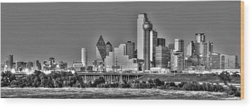 Dallas The New Gotham City  Wood Print by Jonathan Davison