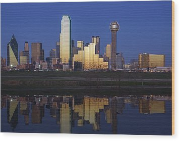Dallas Twilight Wood Print by Rick Berk