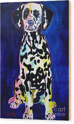 Dalmatian - Polka Dots Wood Print by Alicia VanNoy Call