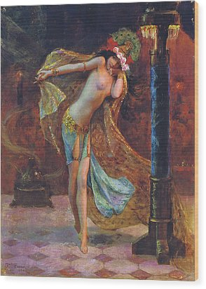 Dance Of The Veils Wood Print by Gaston Bussiere