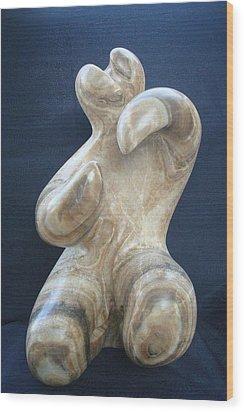 Dancer Wood Print by Marko Petrovic Njegos