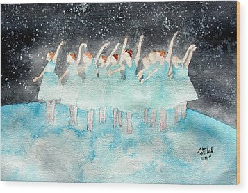 Dancing On Top Of The World Wood Print by Ann Michelle Swadener