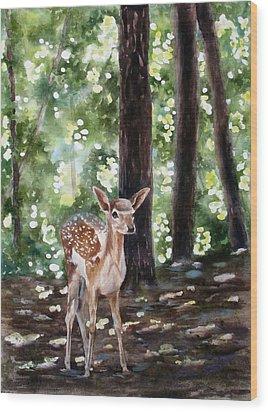 Dappled Innocence Wood Print by Mary McCullah