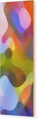 Dappled Light Panoramic Vertical 3 Wood Print by Amy Vangsgard