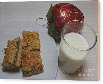 Date Squares - Snack - Dessert - Milk Wood Print by Barbara Griffin