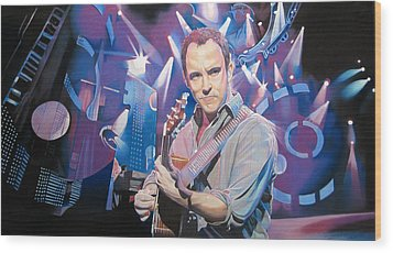 Dave Matthews And 2007 Lights Wood Print by Joshua Morton