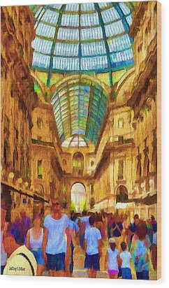 Day At The Galleria Wood Print by Jeff Kolker