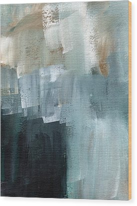 Days Like This - Abstract Painting Wood Print by Linda Woods