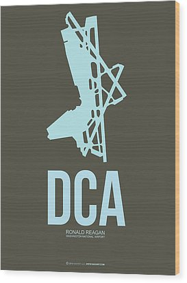 Dca Washington Airport Poster 1 Wood Print by Naxart Studio