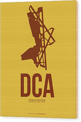 Dca Washington Airport Poster 3 Wood Print by Naxart Studio