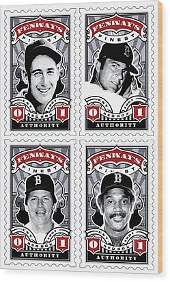 Dcla Fenway's Finest Combo Stamp Art Wood Print by David Cook Los Angeles