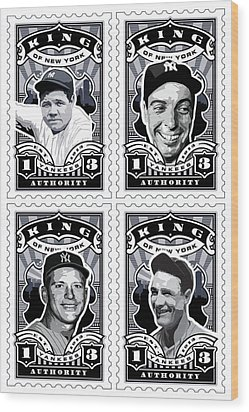 Dcla Kings Of New York Combo Stamp Artwork 1 Wood Print by David Cook Los Angeles