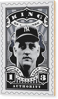 Dcla Roger Maris Kings Of New York Stamp Artwork Wood Print by David Cook Los Angeles