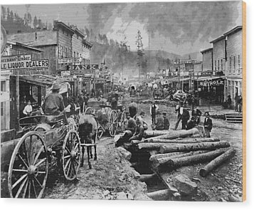 Deadwood South Dakota C. 1876 Wood Print by Daniel Hagerman