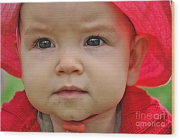 Deep In Thought Wood Print by Kaye Menner