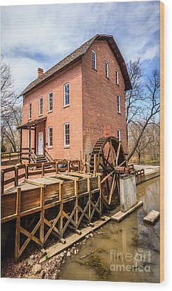 Deep River Grist Mill In Northwest Indiana Wood Print by Paul Velgos