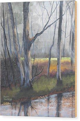 Deep Woods Wood Print by Frank Cochran