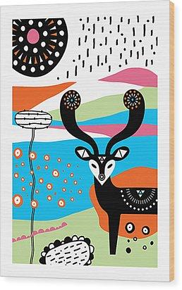 Deery Me Wood Print by Susan Claire