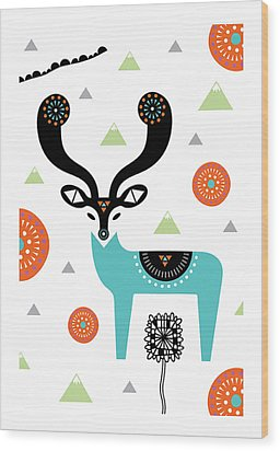 Deery Mountain Wood Print by Susan Claire