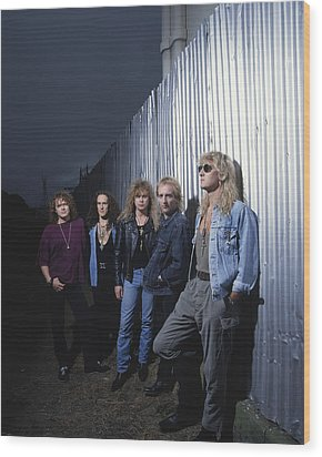 Def Leppard - Adrenalize Me 1992 Wood Print by Epic Rights