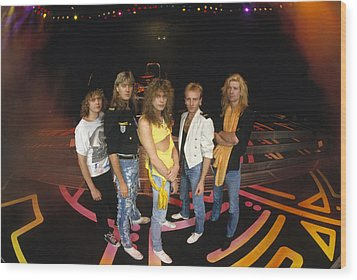 Def Leppard - Round Stage 1987 Wood Print by Epic Rights