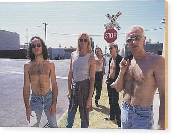 Def Leppard - Slang Tour 1996 - Jackson Street Wood Print by Epic Rights