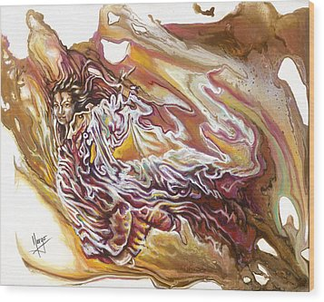 Defiance Wood Print by Karina Llergo