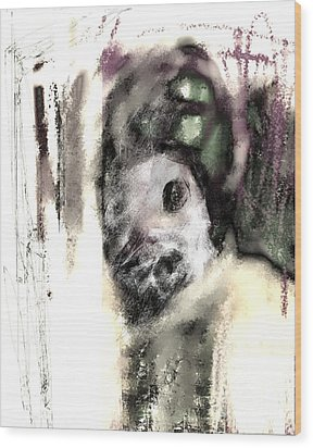 Deformed Personality Wood Print by Ruth Clotworthy