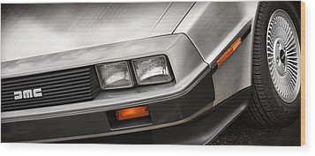 Delorean Dmc-12 Wood Print by Gordon Dean II