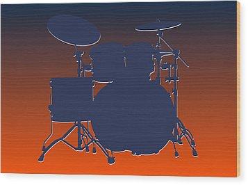 Denver Broncos Drum Set Wood Print by Joe Hamilton