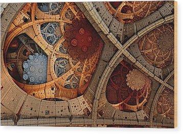 Depth And Color Wood Print by Ricky Jarnagin