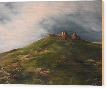 Deralict Chartley Castle Staffordshire Wood Print by Jean Walker