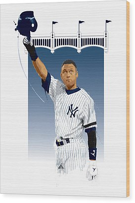Derek Jeter 3000 Hits Wood Print by Scott Weigner