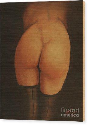 Derriere Wood Print by John Silver