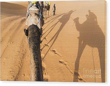 Desert Excursion Wood Print by Yuri Santin