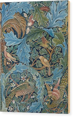 Design For Tapestry Wood Print by William Morris