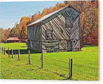 Designer Barn Wood Print by Steve Harrington