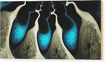 Detached Wood Print by Anastasiya Malakhova