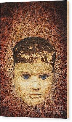 Devil Child Wood Print by Edward Fielding