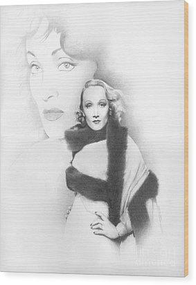 Dietrich Wood Print by TPD Art